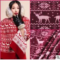 Quality PRINT COURSE GAUGE KNITTING FLANNEL FABRIC CLOTHING FABRIC wholesale