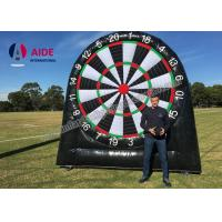 Quality Customized Outdoor Giant Inflatable Sports Equipment Black Soccer Dart Board wholesale