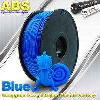 Quality ABS Blue Fluorescent Filament  , 1.75mm / 3.0mm 3D Printer Filament 1kg / Spool wholesale