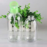 Cheap 300ml 500ml Clear Plastic Pet Cosmetic Discharge Makeup Pump Bottle for sale