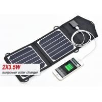 China 2 X 3.5 W Portable Solar Panel Usb Charger , 12 Volt Solar Panels For Camping  on sale