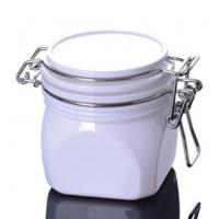 Quality 220g Square Plastic Cosmetic Cream Jar for Facial Mask Packaging wholesale