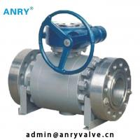 China Forged Steel  API Valves  150~1500 A105 Body A105+ENP Ball  Flanged Trunnion Type Ball Valve on sale