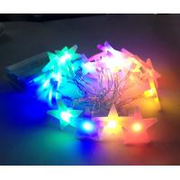 Quality christmas tree decoration star shapes RGBY battery string light wholesale