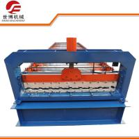 China Blue Color Coated Steel Sheet Metal Forming Equipment For Roofing Production on sale