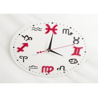 Quality Custom Plastic Crafts Round Wall Clock Big Dial For Livingroom Decoration wholesale