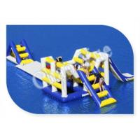 Quality Hot! ! 0.9mm PVC Inflatable Aqua Slide, Inflatable Floating Water Slide for Lake wholesale
