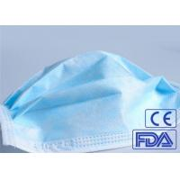 Quality Anti Germs 3 Ply Disposable Medical Face Mask Breathable With Elastic Earloop wholesale