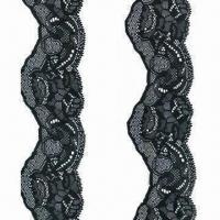 China Raschel Lace, Made of Nylon and Spandex, Various Sizes are Available on sale