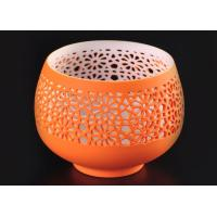 Quality hollow bowl design ceramic porcelain candle vessels candle container wholesale