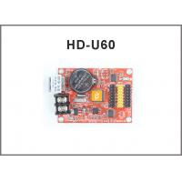 China HD-A40S HD-U60 P10 Single color and Dual color led display controller for led moving signs with usb U-disk communication on sale