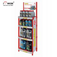 Quality Attractive Customized Floor Metal Display Racks Lubricating Motor Engine Oil Display Shelf wholesale
