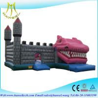 China Hansel bouncy castle with slide,happy island inflatable,childrens party bouncing castles on sale