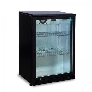 China 150L Glass Door Fan Cooling Under Counter Back Bar Refrigerator Cooler on sale