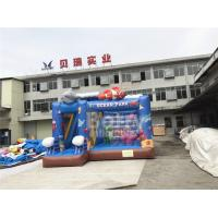 China Flame Restitant Sea World Inflatable Bouncer With Slide Combo Full - Digital Printing on sale