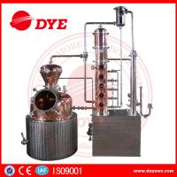 Quality 200L automatic  alcohol wine distiller copper equipment for vodka making wholesale