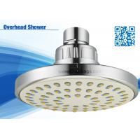 Quality Yellow / Blue Round Bathroom Overhead Shower Head For Low Water Pressure wholesale