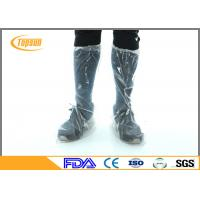 Quality Blue CPE PE Disposable Boot Covers For Industry / Waterproof Disposable Footwear wholesale