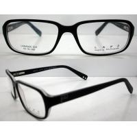 Quality Black Square Classic Acetate Eyeglasses Frames / Spectacle Frames For Men wholesale