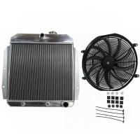 Quality 3 Row Full Aluminum Radiator For 55 56 57 58 59 Chevy Apache Truck wholesale