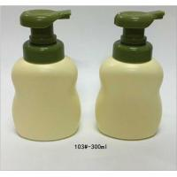 China Recyclable Round Shape Plastic Foamer Bottles Ivory / Green Color on sale