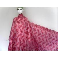 Quality Red Net Organza French Lace Fabric Handcut Lace With Sequins For Lady wholesale