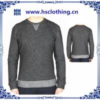 Quality 2014 knitting mens  stripes pattern round neck pullover  hoodies wholesale