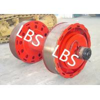 Quality 10ton 20ton Smooth Wire Rope Winch Drum With Split Type Lebus Groove Sleeve wholesale