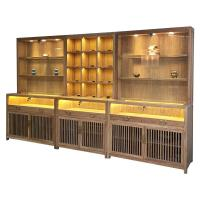 Quality Chinese Style Jade Jewelry Display Showcase Modern LMQ-055 With LED Blub wholesale