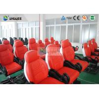 Cheap Dynamic Movie Theater Seats In 5D Motion Theatre With Electric / Pneumatic / Hydraulic System for sale