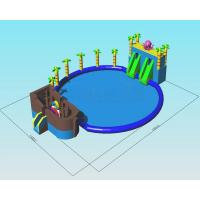 Quality Octopus Ocean Water Park Inflatable Pool Slide Commercial Grade Combo Games wholesale