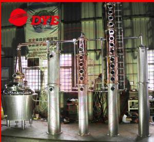 Quality 100Gal Brandy Distillery Alcohol Distilling Equipment , Moonshine Stills Kits wholesale