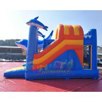 Cheap EN14960 Inflatable Bouncer Slide Combo With Hand Pringting Customized Size for sale