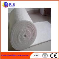 China Standard Size 1260 Ceramic Fiber Blanket White Refractory Insulation For Industrial on sale