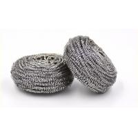 Quality Round Shape Stainless Steel Scourer , Steel Scouring Pad With Comfortable Handfeel wholesale