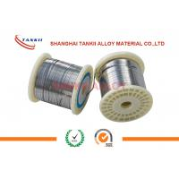 Quality NiCr8020 Bright Flat Nicr Alloy Wire 0.15mm Width For Sealing Machine / Pit Furnace wholesale