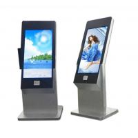 Quality 43 Inch Floor Stand Interactive IR Touch Screen Kiosk Computer Totem With Webcam And Scanner wholesale