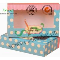 Cheap UV Coating Paper Egg Tart Take Away Food Packaging Boxes Gold Stamping for sale