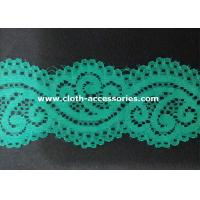 Quality Embroidery Mint Green Nylon Lace Fabric Dress Double Sided With Customer Logo wholesale