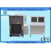 Quality ISO1600 Film Duel View SF6550D Security Baggage Scanner 38AWG , 40mm Steel Penetration wholesale