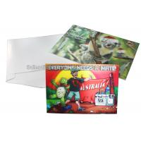 Quality CMYK Merry Christmas Lenticular Printing Services Greeting Card Heat Resistant wholesale