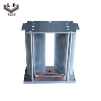 China Passive small size Landscape Lamp Stacked Aluminum Fin Copper Heat Pipe Heat Sink on sale