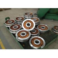 Quality Forged polished double rim wheel for rail cart on steel rails with 800mm wholesale