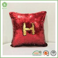 China Glitzy Magical Color Changing Reversible Mermaid Sequin Pillow on sale