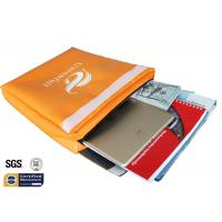 "Quality Non Itchy Fireproof Document Bag 1523 ℉ Envelope Pouch 11""x15""x2"" Orange wholesale"