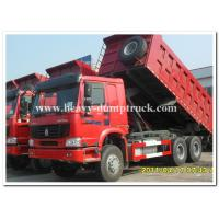 Quality 336 hp Howo 6x4 dump truck 10 wheels red dump truck for tough road wholesale