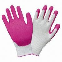 Quality Latex palm coated safety working gloves with crinkle finish wholesale
