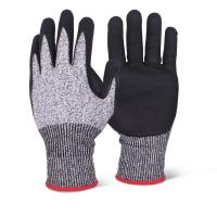 Quality Best Selling OEM working gloves Cut Resitant nitrile Glove cut level 5 of size S, M, L, XL of China supplier wholesale