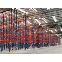 Quality Dark Blue / Orange Red Industrial Pallet Rack Shelving Warehouse Storage Racks wholesale