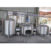 Quality SUS304 Commercial Beer Brewing Equipment , Automatic Brewing System wholesale